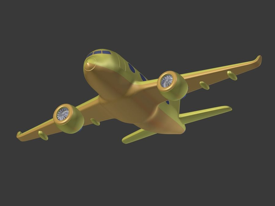 Cartoon Toy Airplane royalty-free 3d model - Preview no. 22