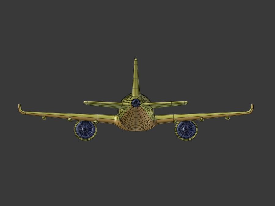 Cartoon Toy Airplane royalty-free 3d model - Preview no. 17