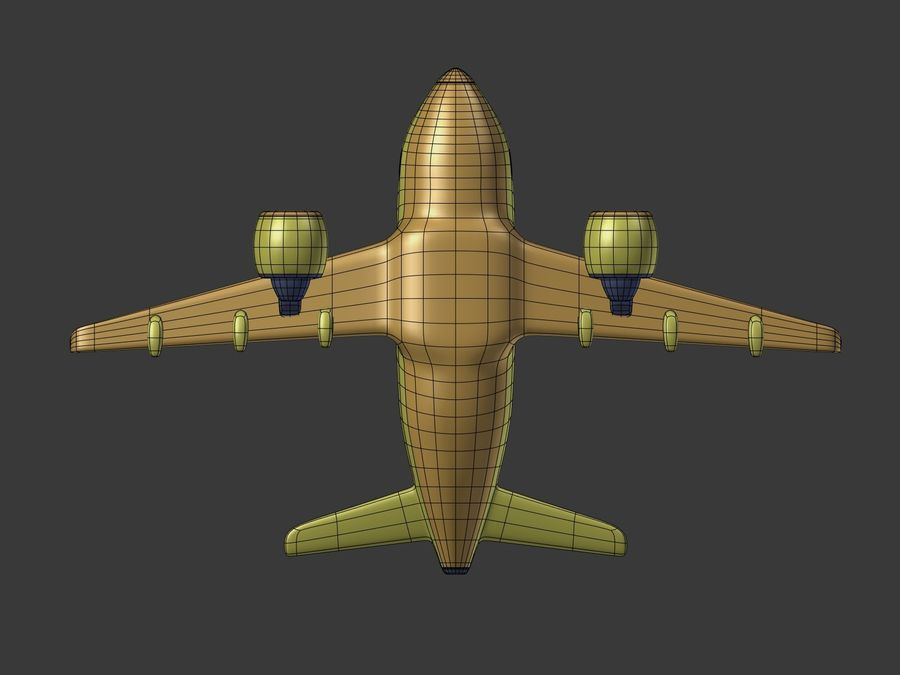 Cartoon Toy Airplane royalty-free 3d model - Preview no. 15