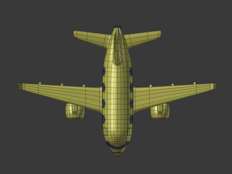 Cartoon Toy Airplane royalty-free 3d model - Preview no. 13