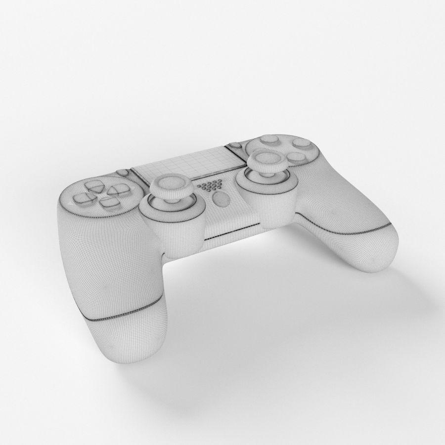 索尼PlayStation PS4 PRO DualShock控制器 royalty-free 3d model - Preview no. 6
