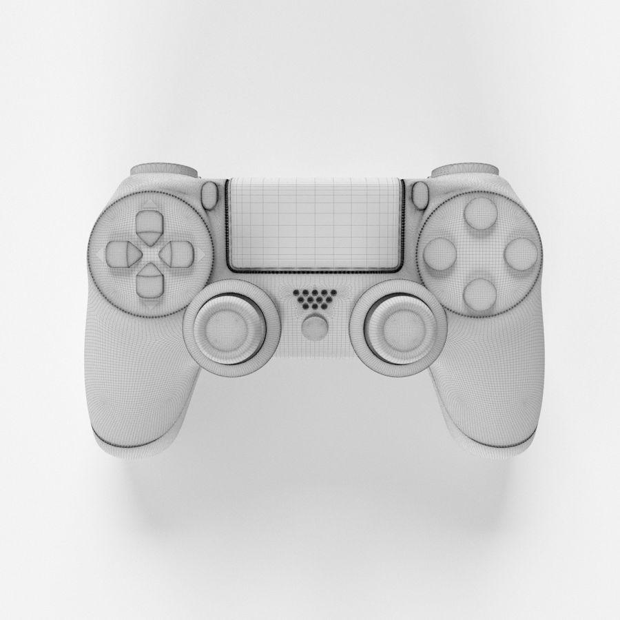 索尼PlayStation PS4 PRO DualShock控制器 royalty-free 3d model - Preview no. 4