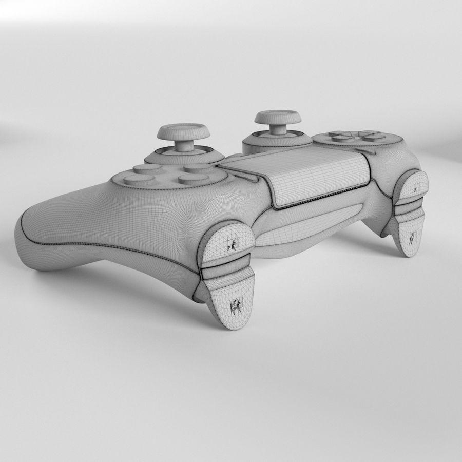 索尼PlayStation PS4 PRO DualShock控制器 royalty-free 3d model - Preview no. 2