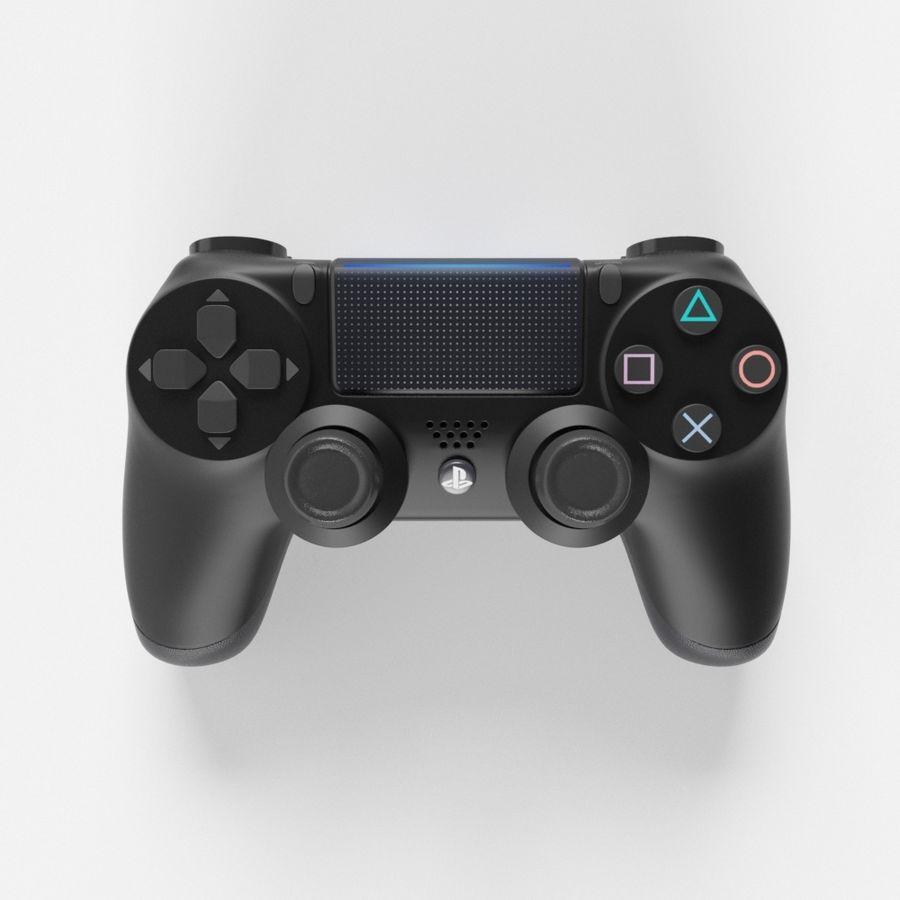 索尼PlayStation PS4 PRO DualShock控制器 royalty-free 3d model - Preview no. 3