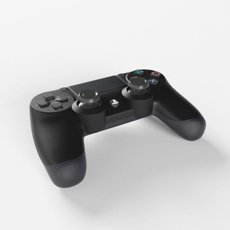 索尼PlayStation PS4 PRO DualShock控制器 royalty-free 3d model - Preview no. 5