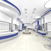 Optisk butik 3d model