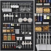 Collectie voor de keuken Kleinigheden voor de keuken 3d model