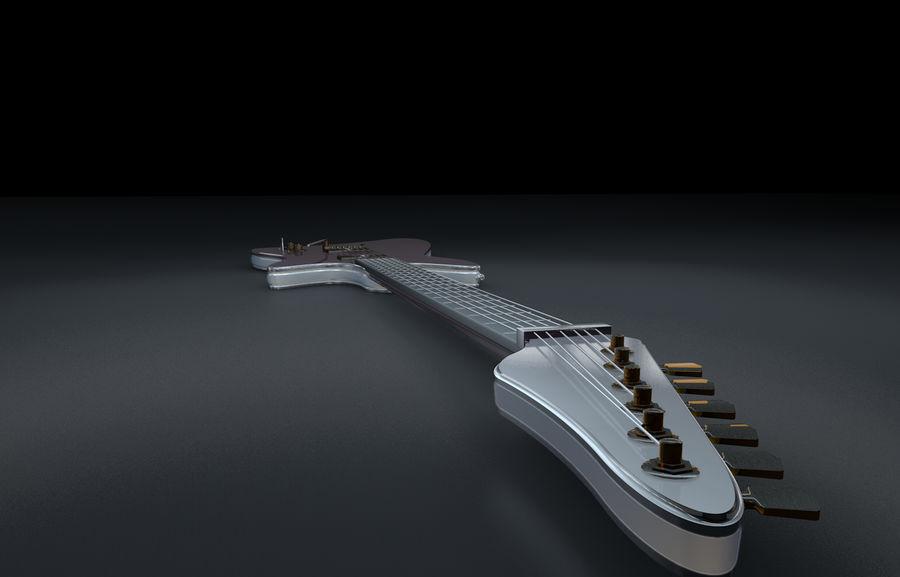 Guitarra elétrica royalty-free 3d model - Preview no. 4
