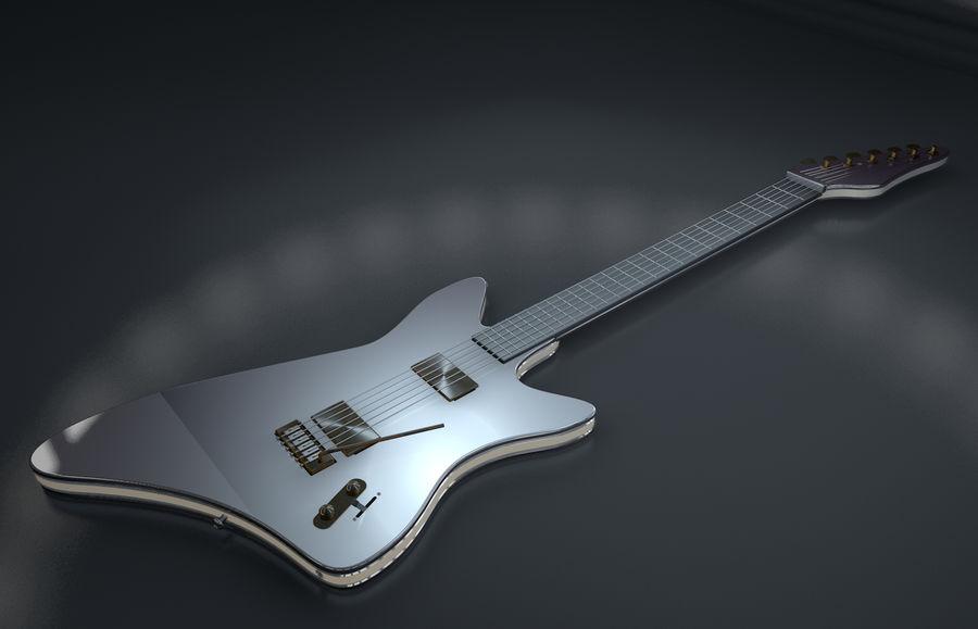 Guitarra elétrica royalty-free 3d model - Preview no. 1
