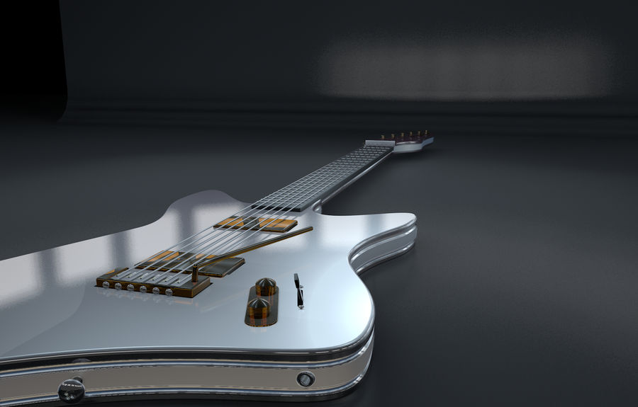 Guitarra elétrica royalty-free 3d model - Preview no. 5