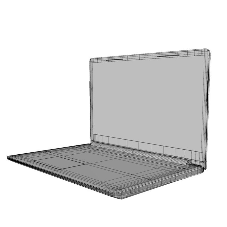 INSPIRON LAPTOP royalty-free 3d model - Preview no. 4