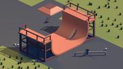 низкий поли скейт парк 3d model
