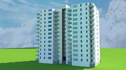 Mieszkanie 13 piętro 3d model