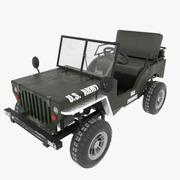 Go Kart Willys Jeep 3d model