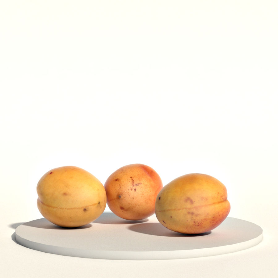 Apricots royalty-free 3d model - Preview no. 3