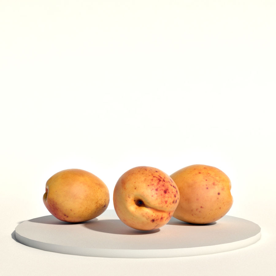 Apricots royalty-free 3d model - Preview no. 1