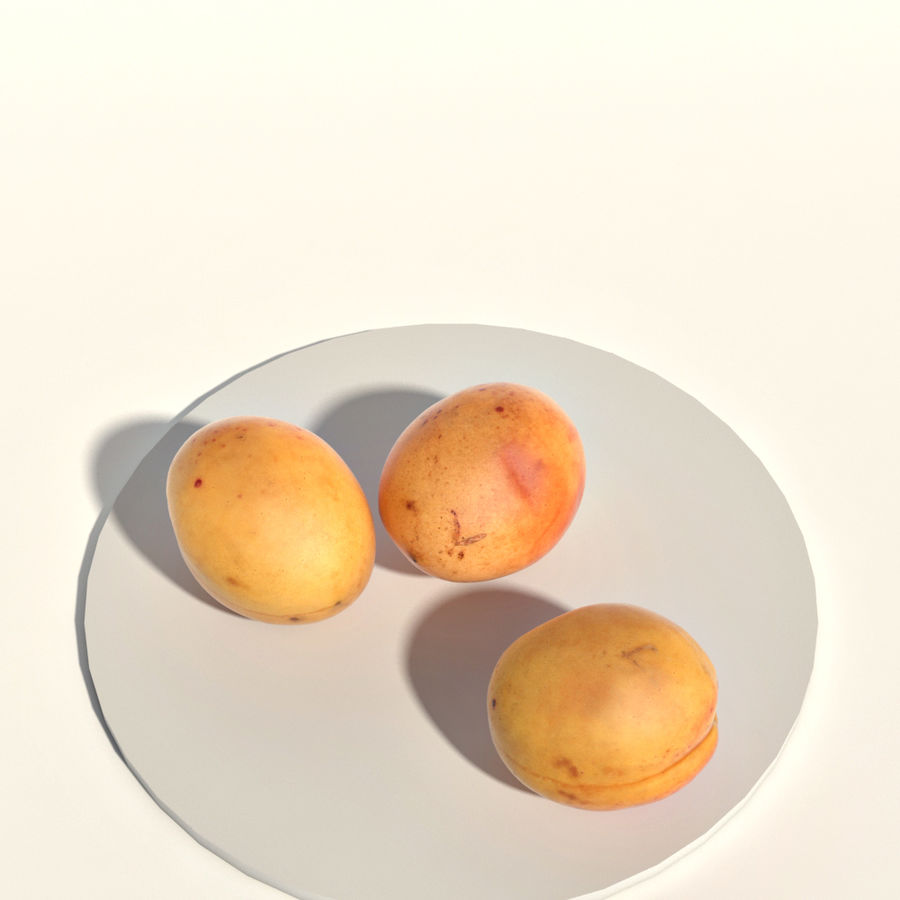 Apricots royalty-free 3d model - Preview no. 5