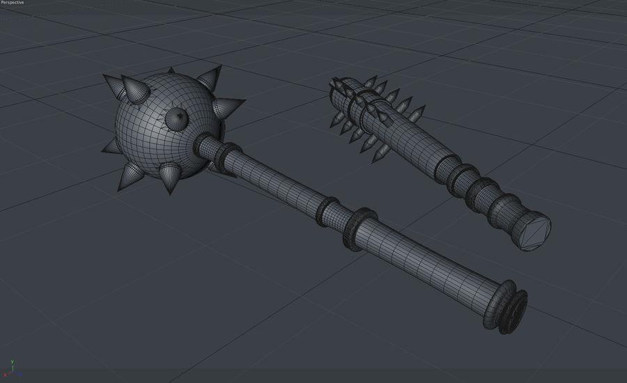 中世の武器 royalty-free 3d model - Preview no. 5