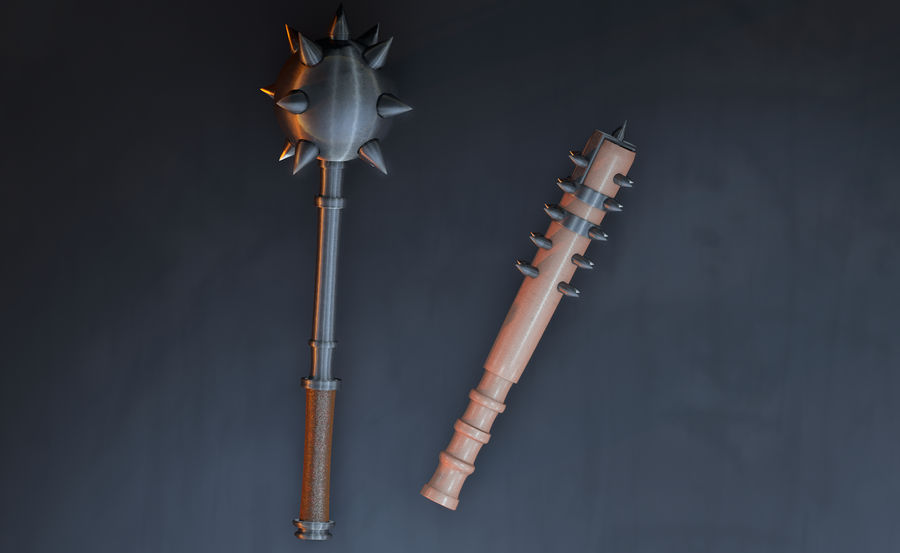 Medieval Weapons royalty-free 3d model - Preview no. 3