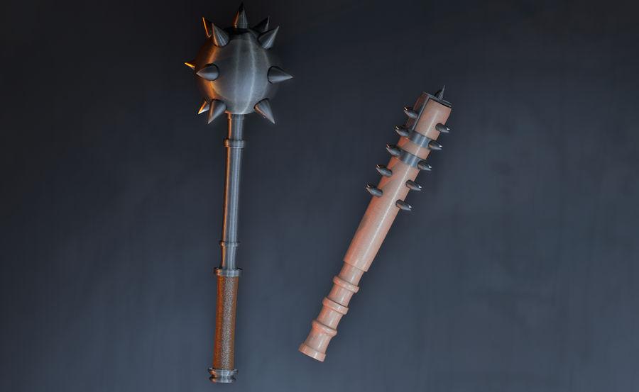中世の武器 royalty-free 3d model - Preview no. 3