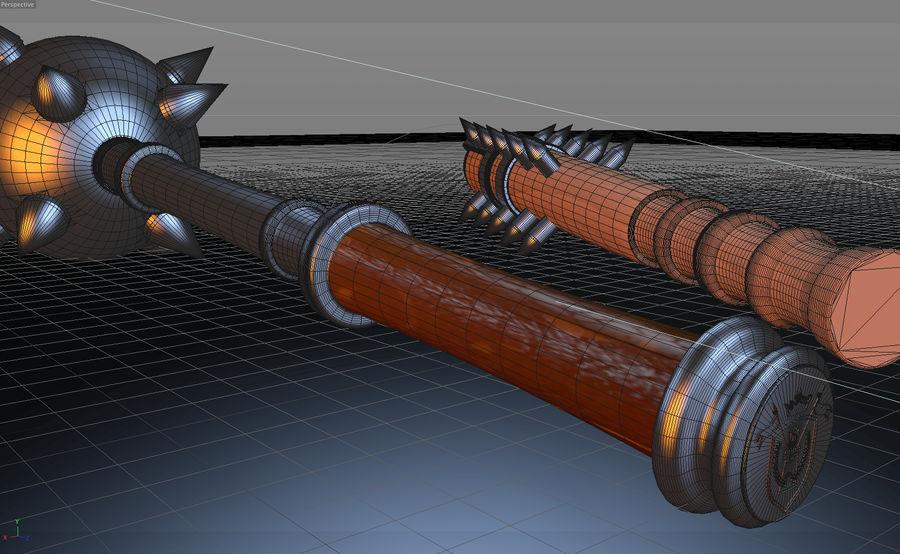 中世の武器 royalty-free 3d model - Preview no. 4