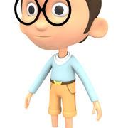 Schattige jongen karakter 3d model