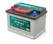 車電池 3d model