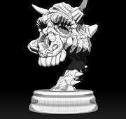 Canavar Kafatası Heykelcik 3d model