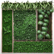 Vertical gardening collection 3d model