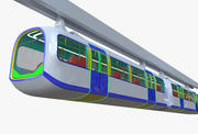 Monorail train II 3d model