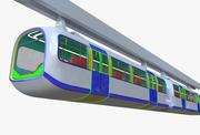 Pociąg jednoszynowy II 3d model