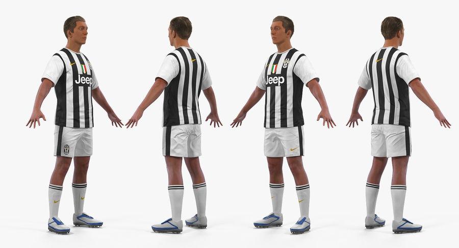 futbol o jugador de futbol juventus rigged 2 modelo 3d modelo 3d 199 max free3d free 3d