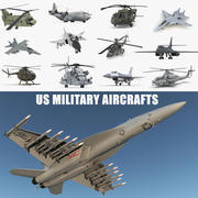 US Military Aircrafts 3D Models Collection 3d model