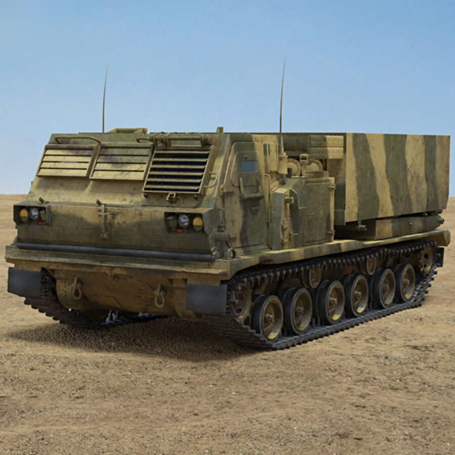 M270 MLRS royalty-free 3d model - Preview no. 1