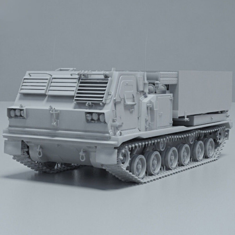 M270 MLRS royalty-free 3d model - Preview no. 11