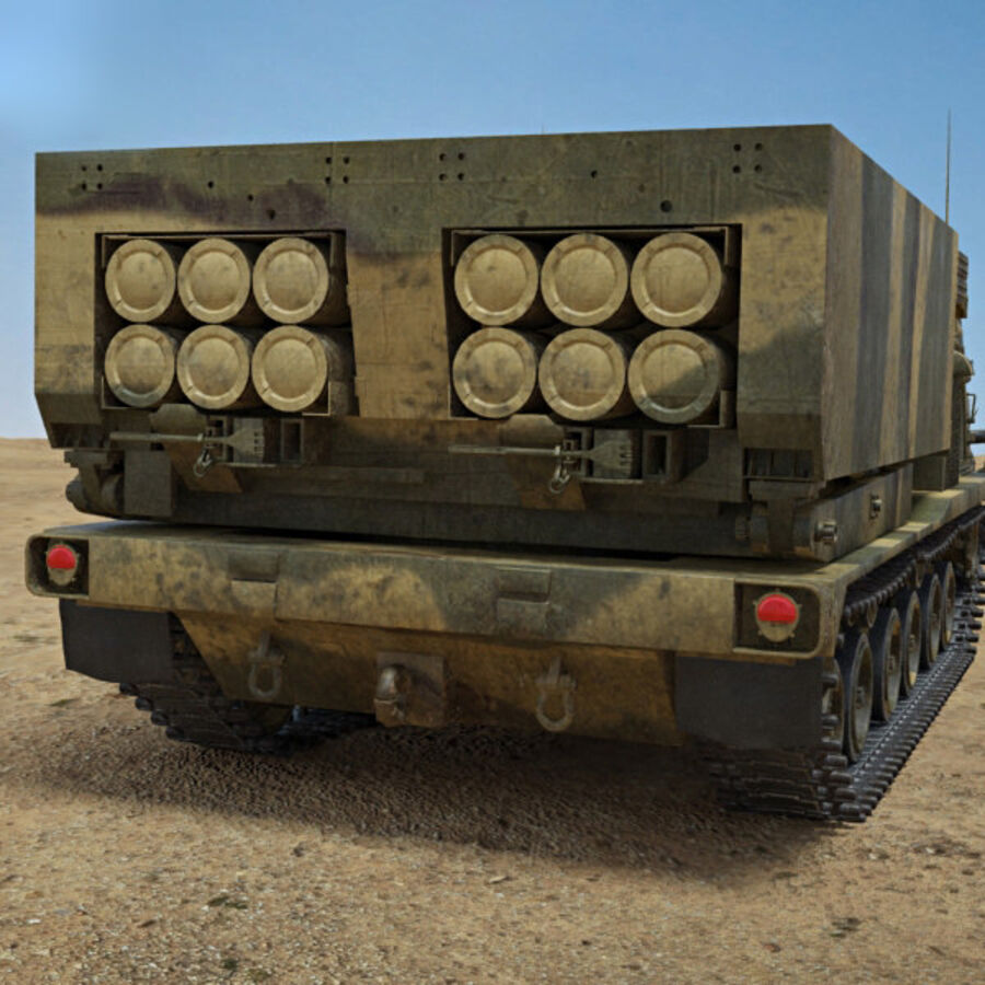 M270 MLRS royalty-free 3d model - Preview no. 7