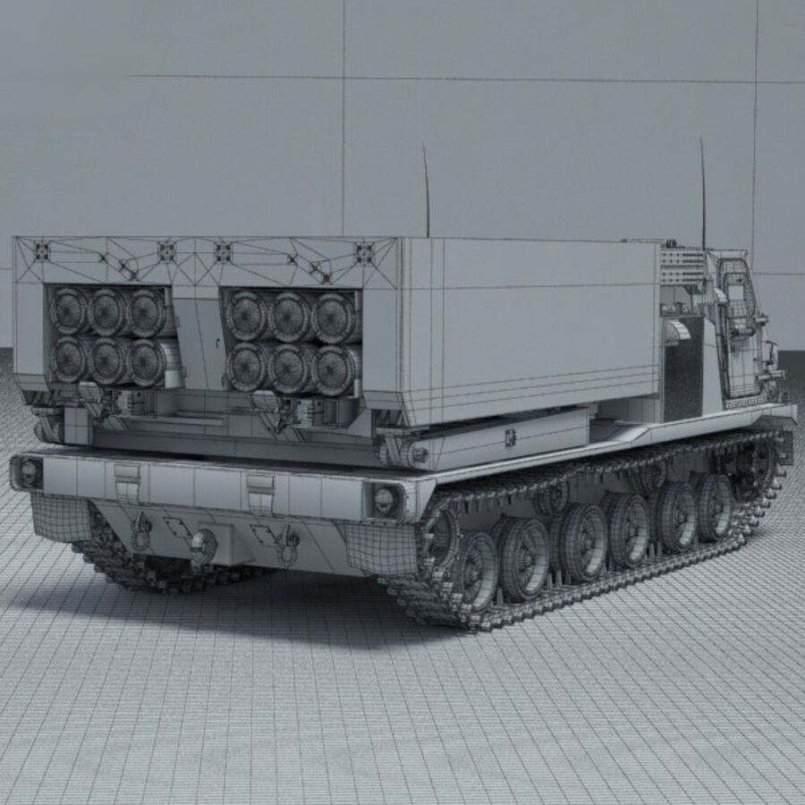 M270 MLRS royalty-free 3d model - Preview no. 4