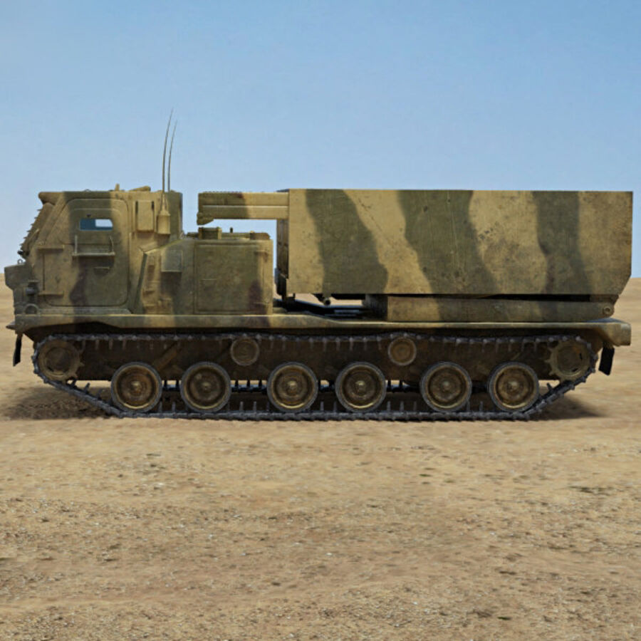 M270 MLRS royalty-free 3d model - Preview no. 5