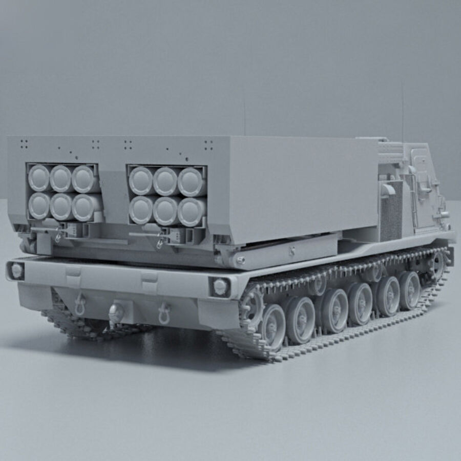M270 MLRS royalty-free 3d model - Preview no. 12