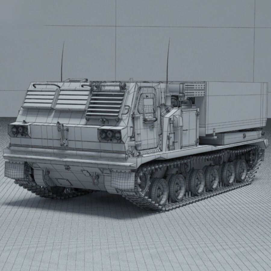 M270 MLRS royalty-free 3d model - Preview no. 3