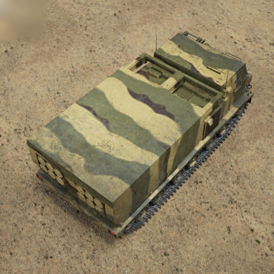 M270 MLRS royalty-free 3d model - Preview no. 9