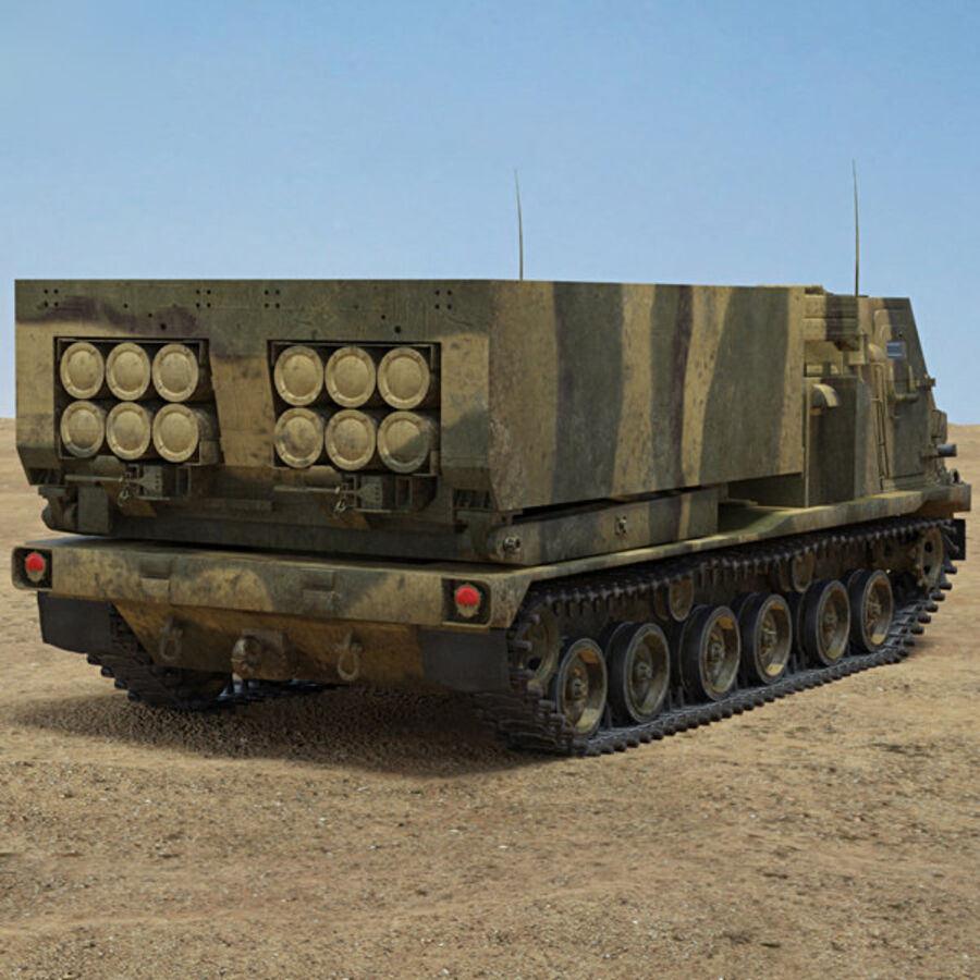 M270 MLRS royalty-free 3d model - Preview no. 2