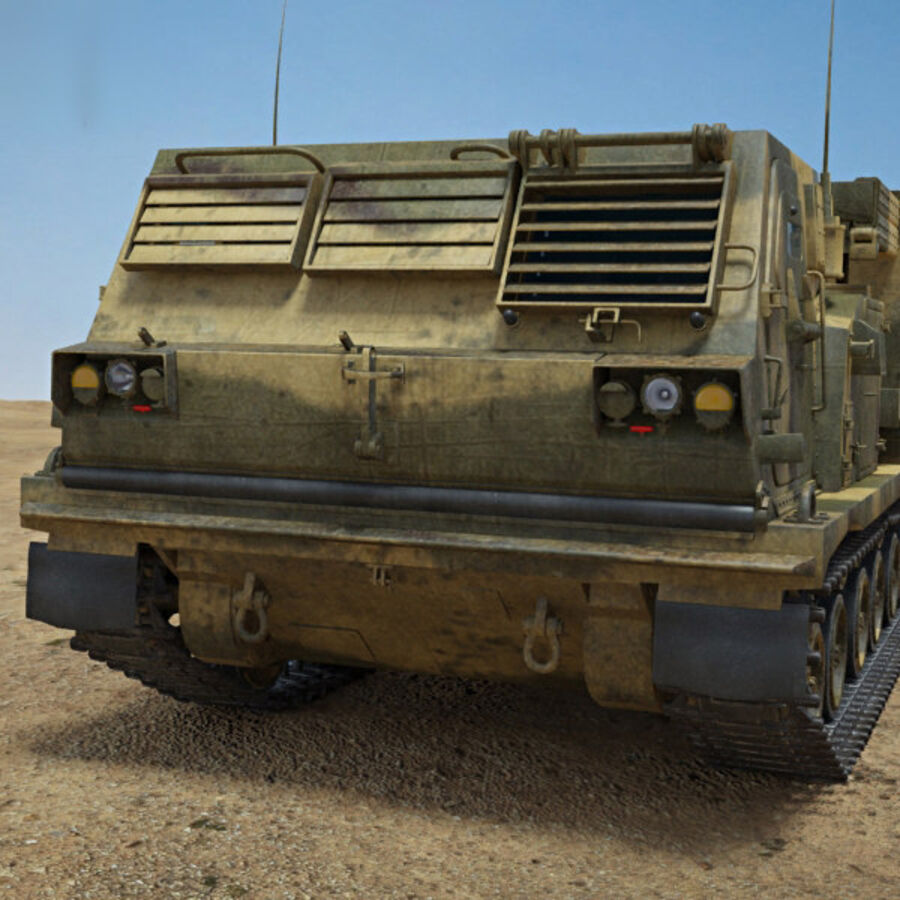 M270 MLRS royalty-free 3d model - Preview no. 6