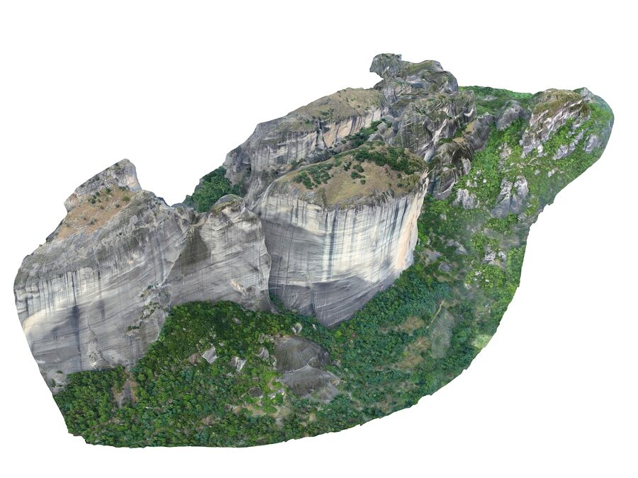 Montañas Meteora royalty-free modelo 3d - Preview no. 5