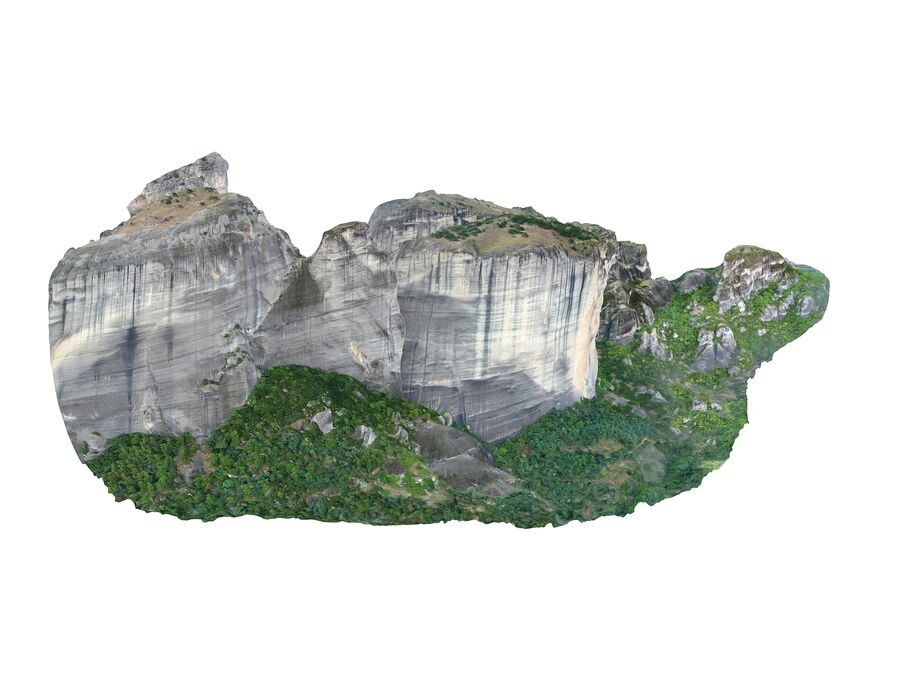 Montañas Meteora royalty-free modelo 3d - Preview no. 7
