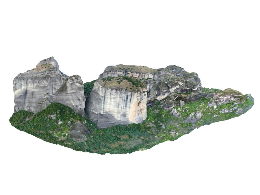 Montañas Meteora royalty-free modelo 3d - Preview no. 1