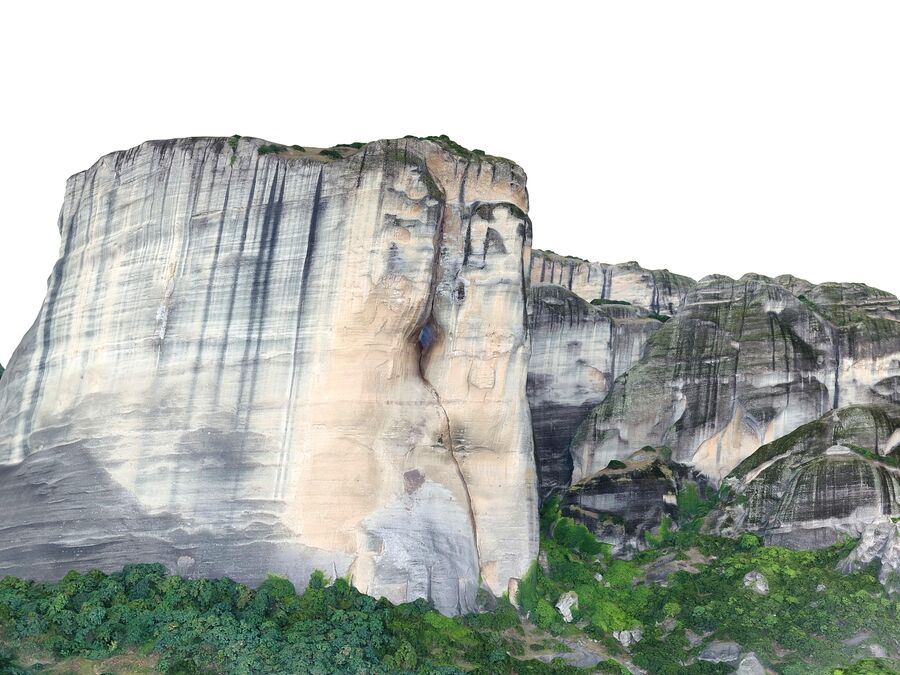 Montañas Meteora royalty-free modelo 3d - Preview no. 8