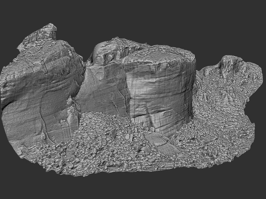 Montañas Meteora royalty-free modelo 3d - Preview no. 10