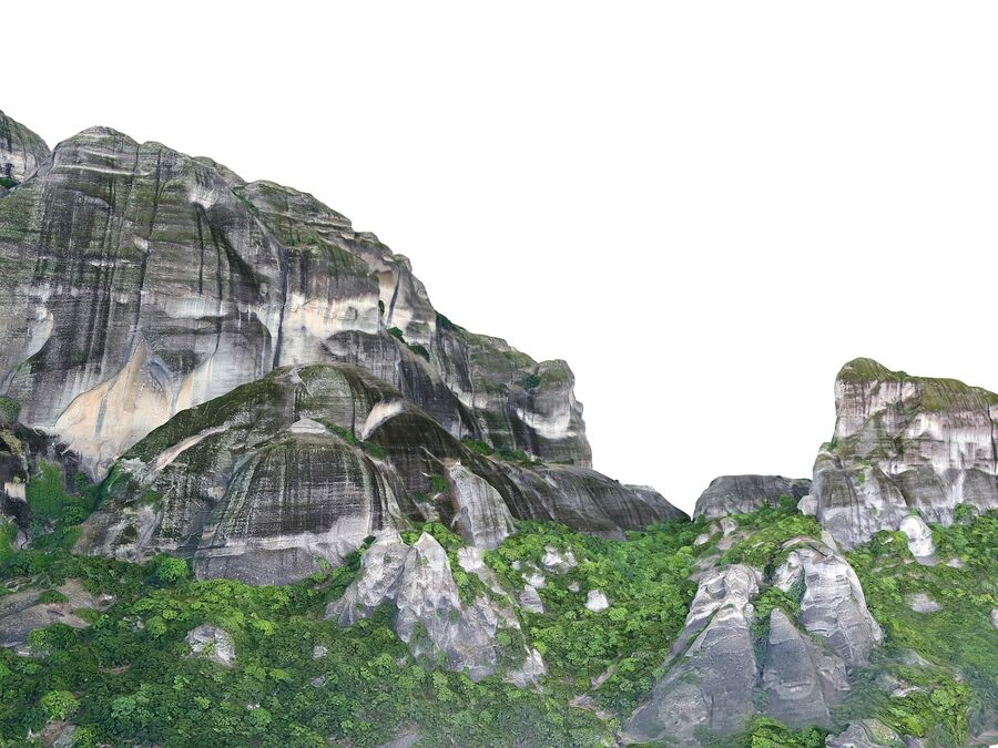 Montañas Meteora royalty-free modelo 3d - Preview no. 3