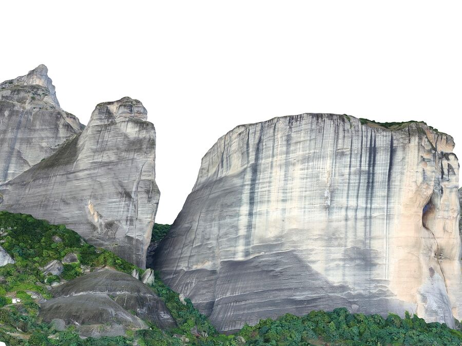 Montañas Meteora royalty-free modelo 3d - Preview no. 4